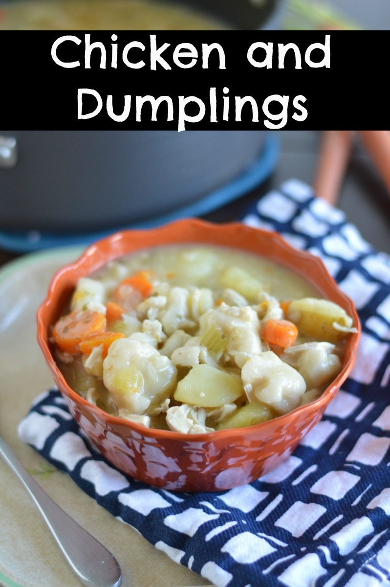 Chicken and Dumplings To Warm You Up!