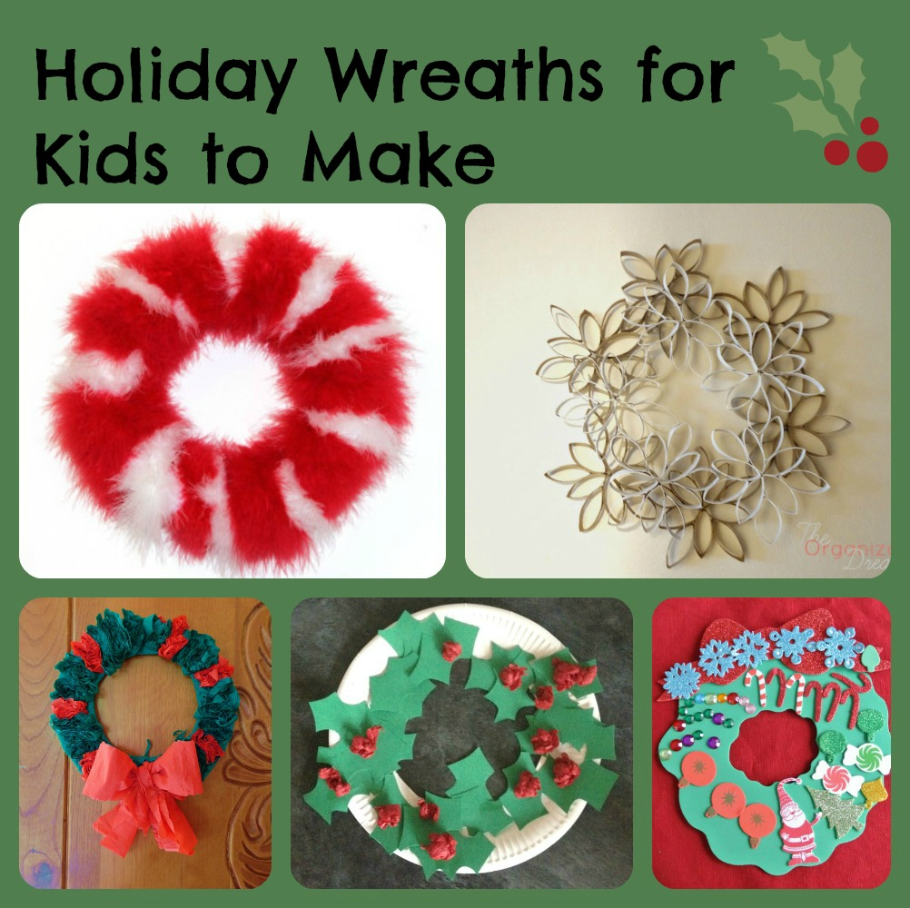 6 Holiday Wreaths Kids Can Make | Manic Mama of 3