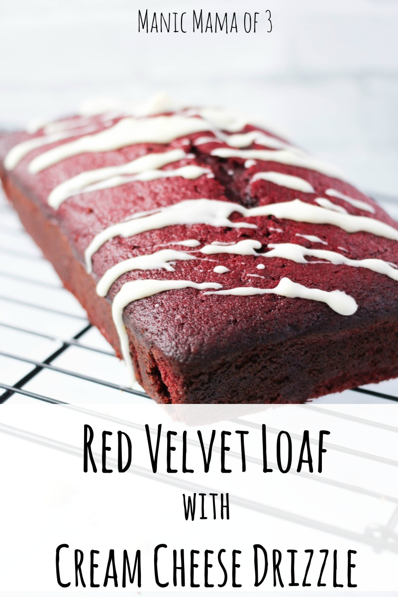 Red Velvet Loaf with Cream Cheese Drizzle